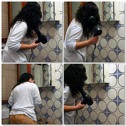 Blow-drying the hair  (1 blog)